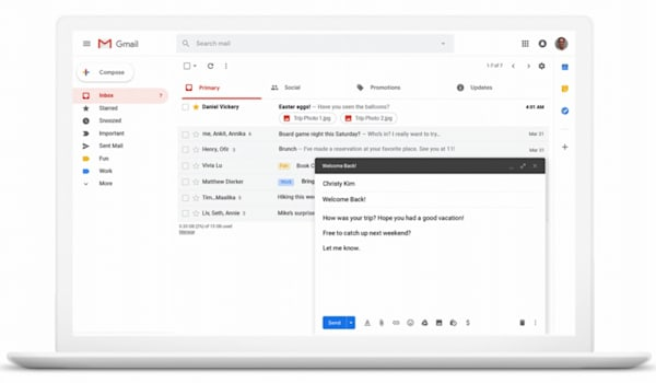 Gmail can schedule messages to send them at a better time