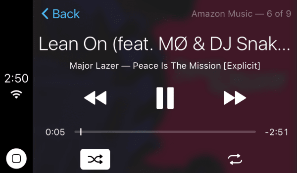 Amazon Music's iOS app infiltrates CarPlay