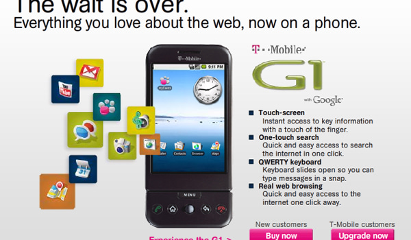 T Mobile G1 Now Available Engadget
