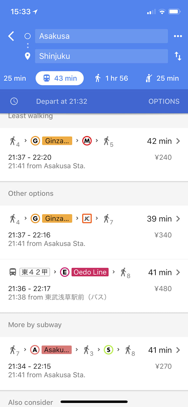 What we're using: Google Maps while lost in Japan