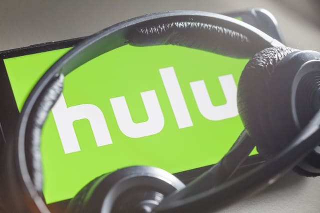 BERLIN, GERMANY - OCTOBER 07: In this photo illustration the logo of subscription video on demand service Hulu is displayed on a smartphone on October 07, 2019 in Berlin, Germany. (Photo Illustration by Thomas Trutschel/Photothek via Getty Images)