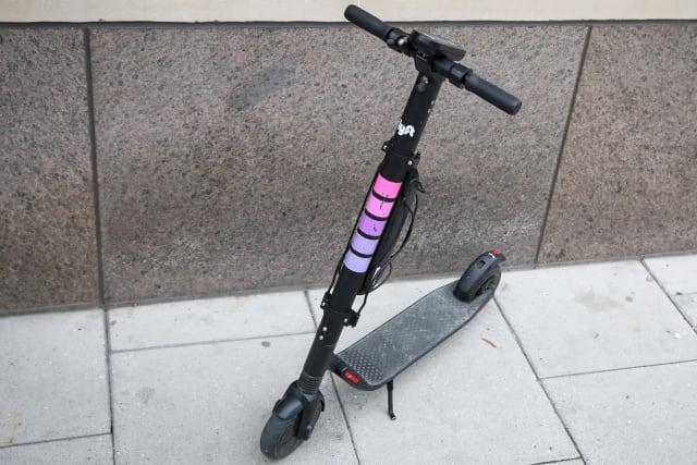A Lyft Scooter is parked in Washington, U.S., March 29, 2019. REUTERS/Brendan McDermid