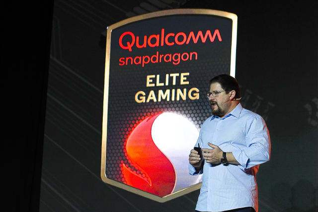 The president of Qualcomm, Cristiano Amon, talking about Qualcomm snapdragon Elite Gaming, at Xiaomi launch, during the Mobile World Congress, on February 24, 2019 in Barcelona, Spain. (Photo by Joan Cros/NurPhoto via Getty Images)