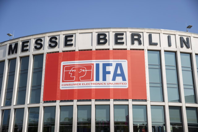 IFA logo at the Berlin Fair during the international electronics and innovation fair IFA in Berlin on September 11, 2019. (Photo by Emmanuele Contini/NurPhoto via Getty Images)