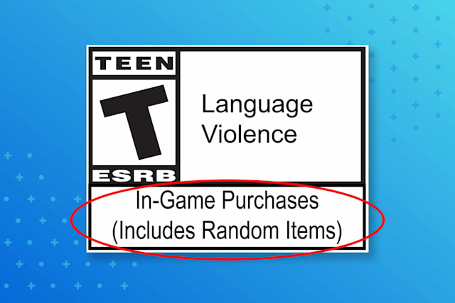 ESRB loot box (random items) label