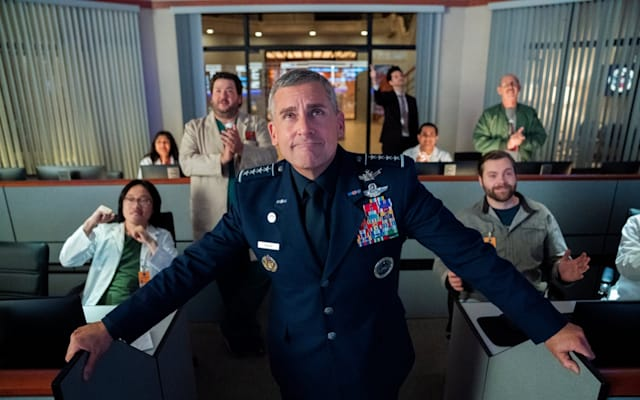Steve Carell as four-star general Mark R. Naird in Netflix's 'Space Force' spoof.