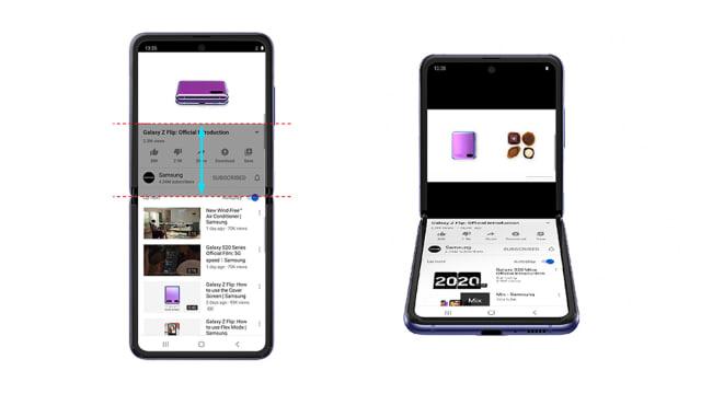 YouTube optimized for Samsung's Galaxy Z Flip