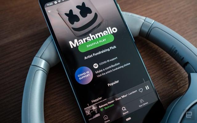 Spotify artist fundraising pick