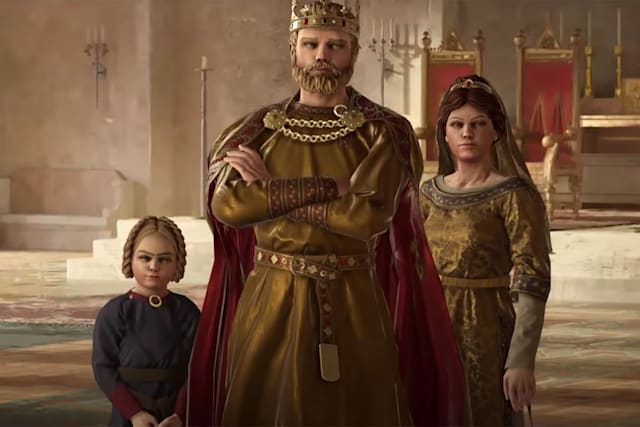 A royal family in 'Crusader Kings III'