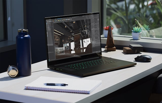 Razer Blade Pro 17 300 Hz display 120 Hz 4K