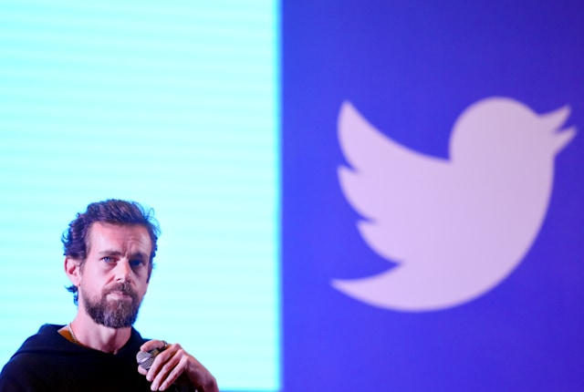 NEW DELHI, INDIA - NOVEMBER 12: Twitter CEO and Co Founder, Jack Dorsey addresses students at the Indian Institute of Technology (IIT), on November 12, 2018 in New Delhi, India. (Photo by Amal KS/Hindustan Times via Getty Images)