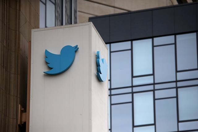 SAN FRANCISCO, CA - JULY 26:  A sign is posted on the exterior of Twitter headquarters on July 26, 2018 in San Francisco, California. Twitter is expected to announce strong second quarter earnings on Friday.  (Photo by Justin Sullivan/Getty Images)