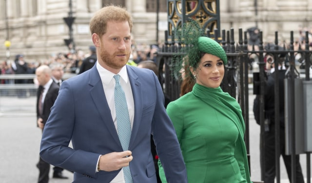 LONDRA, İNGİLTERE - 09 Mart: Prens Harry, Sussex Dükü ve Meghan, Sussex Düşesi, 9 Mart 2020'de Londra, İngiltere'deki Westminster Abbey'de Commonwealth Day Service 2020'ye katıldı.  (Fotoğraf Mark Cuthbert / UK Press, Getty Images üzerinden)