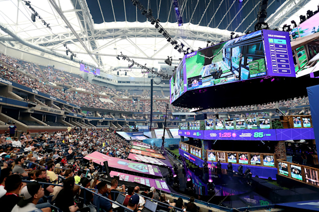 NEW YORK, NEW YORK - JULY 28:  General view of the Fortnite World Cup Finals - Final Round at Arthur Ashe Stadium on July 28, 2019 in New York City. (Photo by Mike Stobe/Getty Images)