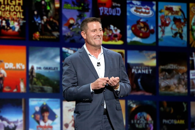 ANAHEIM, CALIFORNIA - AUGUST 23: Chairman of Direct-to-Consumer & International division of The Walt Disney Company Kevin Mayer took part today in the Disney+ Showcase at Disney's D23 EXPO 2019 in Anaheim, Calif.  (Photo by Jesse Grant/Getty Images for Disney)