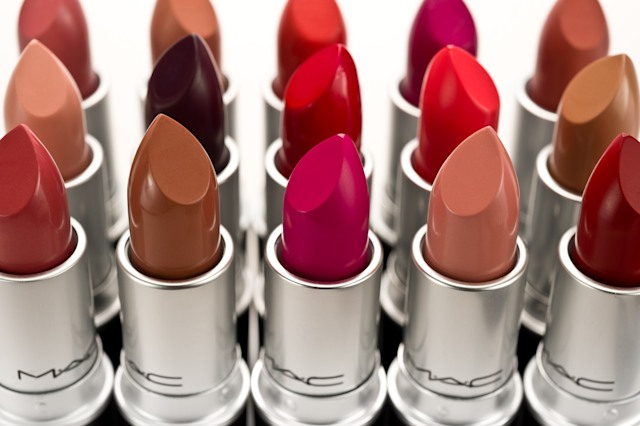 """Yellowknife, Canada - February 16, 2012: MAC lipsticks in various colours. MAC Cosmetics, officially named Make-up Art Cosmetics, was founded in Toronto Canada and later acquired by Este Lauder in 1994. MAC manufactures a extensive line of cosmetics."""