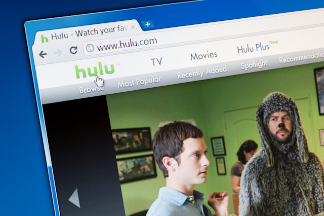 Castleford, England - September 9, 2011: Close up of Hulu main page on the web browser. Hulu.com is an online video service that offers hit TV shows