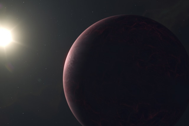 Hot exoplanet with star, illustration.