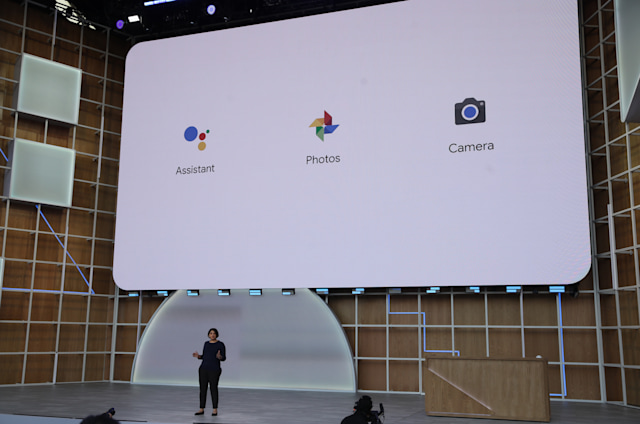 MOUNTAIN VIEW, CALIFORNIA - MAY 07: Google VP and General Manager for Camera and AR products Aparna Chennapragada speaks during the keynote address at the 2019 Google I/O conference at Shoreline Amphitheatre on May 07, 2019 in Mountain View, California. The annual Google I/O Conference runs through May 8. (Photo by Justin Sullivan/Getty Images)