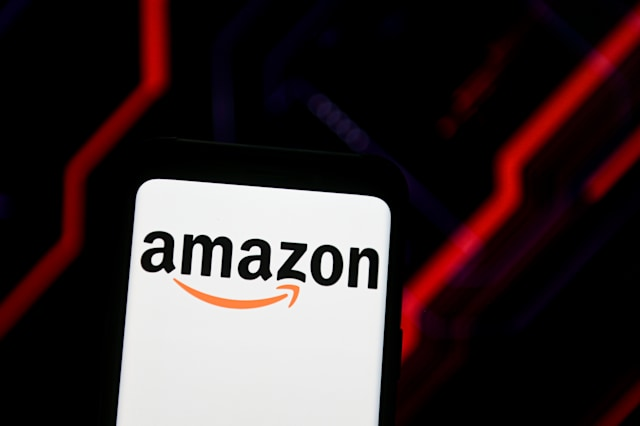 POLAND - 2020/06/15: In this photo illustration an Amazon logo seen displayed on a smartphone. (Photo Illustration by Mateusz Slodkowski/SOPA Images/LightRocket via Getty Images)