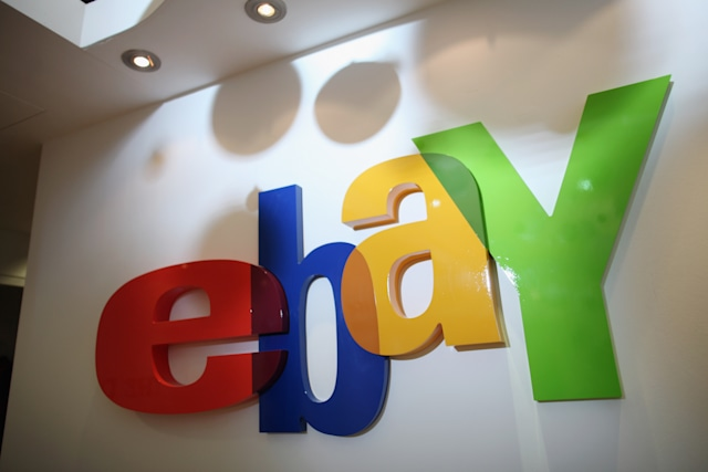 LONDON, ENGLAND - DECEMBER 01:  A general view of as sign in the new Ebay store on December 1, 2011 in central London, England. Ebay have launched the first ever quick response code shopping emporium allowing customers to browse in store and then order online using mobile phones and tablets inside the boutique whilst it is open for the next five days.  (Photo by Dan Kitwood/Getty Images)