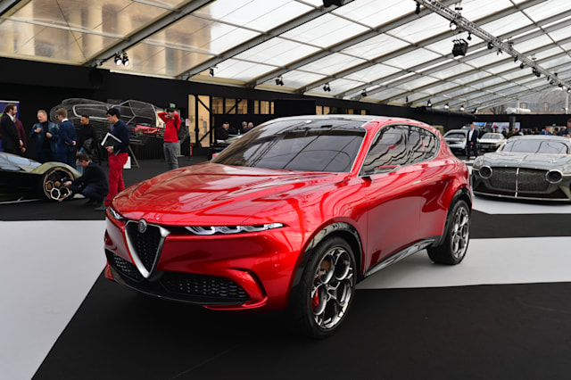 At the Paris Festival Automobile International with Concept Cars and Automotive Design Exhibition, ALFA ROMEO exhibits its model ALFA ROMEO TONALE CONCEPT in French Premiere January 29, 2020, Paris (Photo by Daniel Pier/NurPhoto via Getty Images)