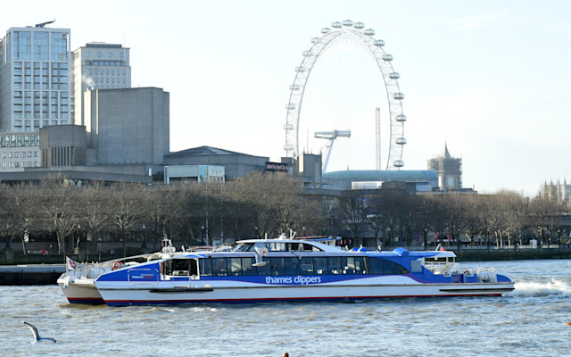 An Thames Clipper in London. (Photo by Ian West/PA Images via Getty Images)
