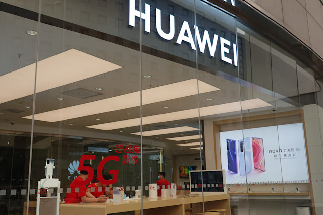 BEIJING, CHINA - MAY 29: A Huawei authorised experience store is pictured on May 29, 2020 in Beijing, China. (Photo by Qin Luyao/VCG via Getty Images)