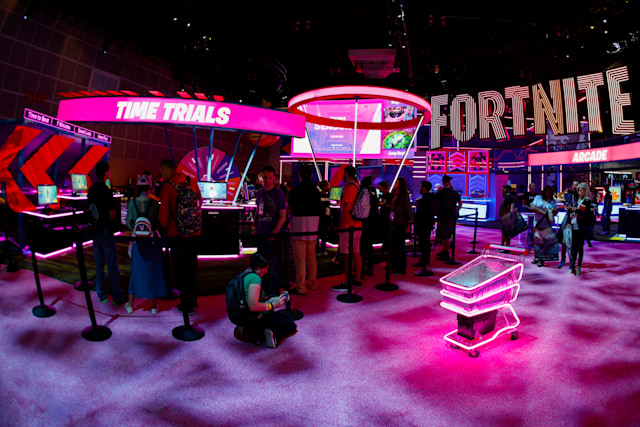 Epic Games booth for the game Fortnite is shown at E3, the annual video games expo experience the latest in gaming software and hardware in Los Angeles, California, U.S., June 12, 2019.  REUTERS/Mike Blake