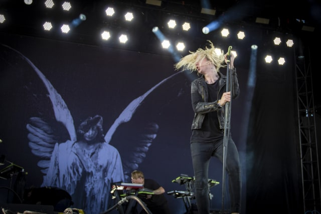 MONTREAL, QC - JULY 28: Spencer Chamberlain of Underoath performs at the Heavy Montreal festival at Parc Jean-Drapeau on July 28, 2018 in Montreal, Canada. (Photo by Mark Horton/Getty Images)