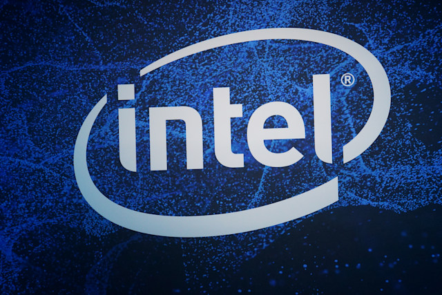 FILED - 08 January 2019, US, Las Vegas: A logo of the chip company Intel at the electronics trade fair CES 2019, the number of exhibitors at the world's largest mobile phone trade fair MWC in Barcelona is dwindling due to the danger of coronavirus. Also the chip giant Intel and the Chinese smartphone provider Vivo cancelled their participation on 11.02.2020. Photo: Christoph Dernbach/dpa (Photo by Christoph Dernbach/picture alliance via Getty Images)