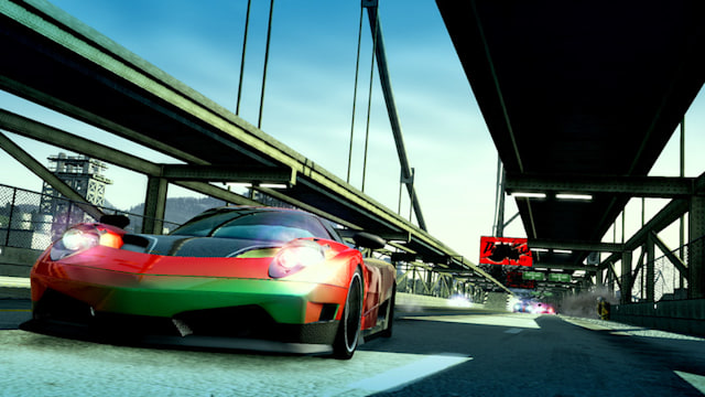 A screenshot of Burnout Paradise Remastered on Nintendo Switch