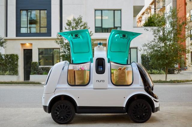 Nuro R2 self-driving delivery car in California