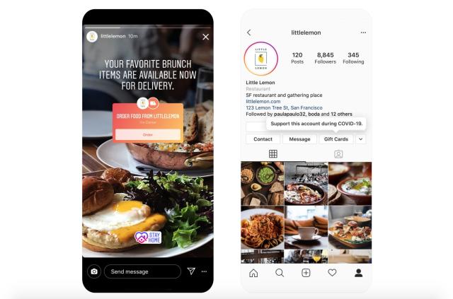Instagram Shoppable Restaurants Stickers
