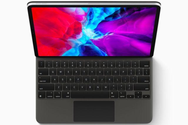 iPad with keyboard and trackpad