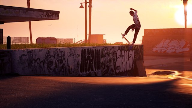 Grinding at sunset in 'Tony Hawk's Pro Skater 1 and 2'