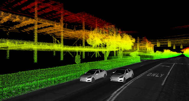 Ford self-driving vehicle visualization