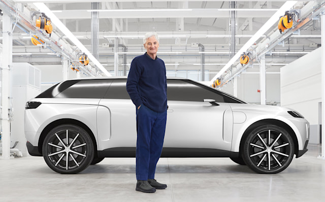 Dyson's seven-seat electric car had a 600-mile range and could go from zero to 62 mph in 4.8 seconds.