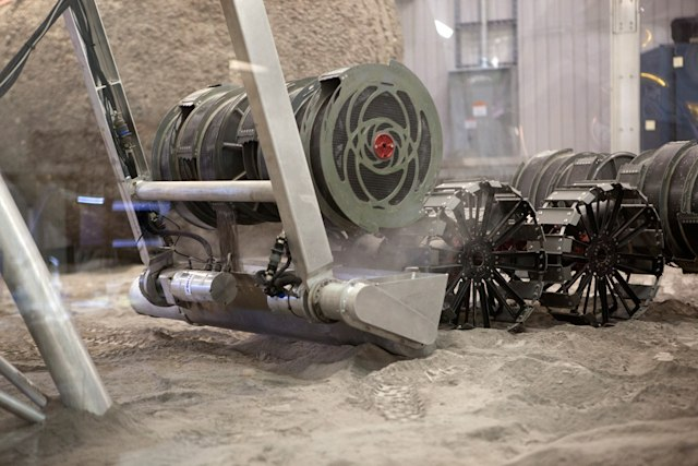 NASA RASSOR Moon-digging robot