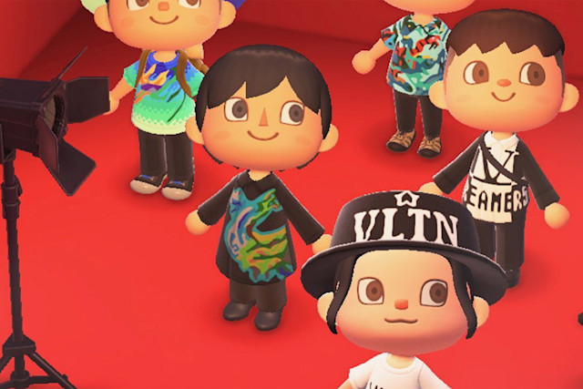 Valentino fashions in 'Animal Crossing: New Horizons'