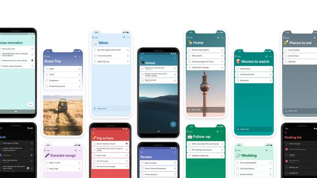 Microsoft To Do, fall 2019
