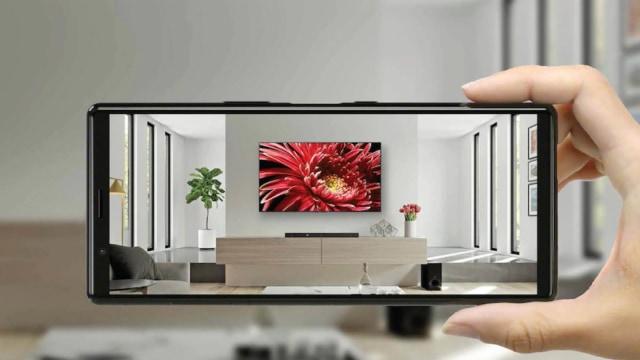 Sony Envision TV AR app on an Xperia phone