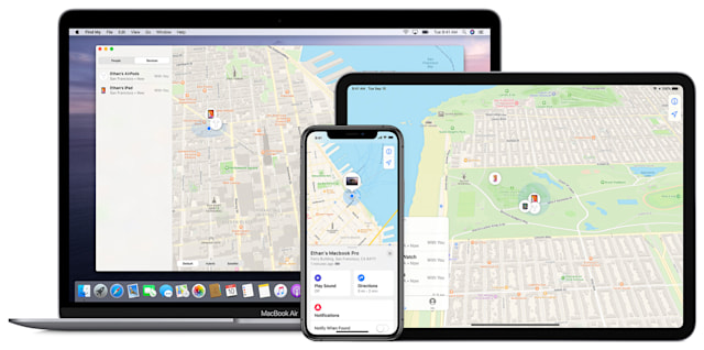 Apple Find My on Mac, iPhone and iPad