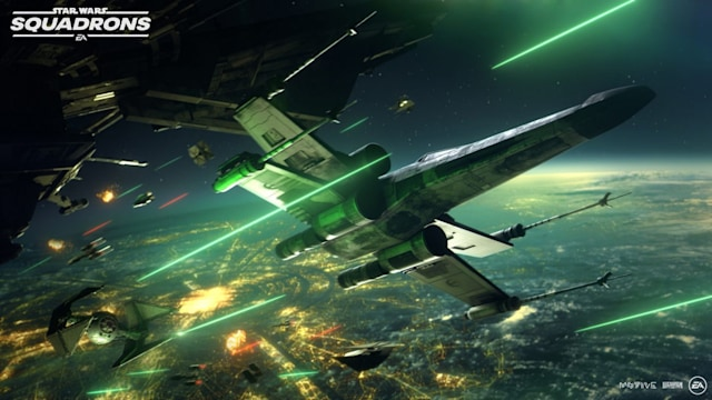 A dogfight in 'Star Wars: Squadrons'