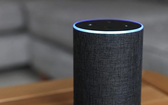 An Amazon Echo device.
