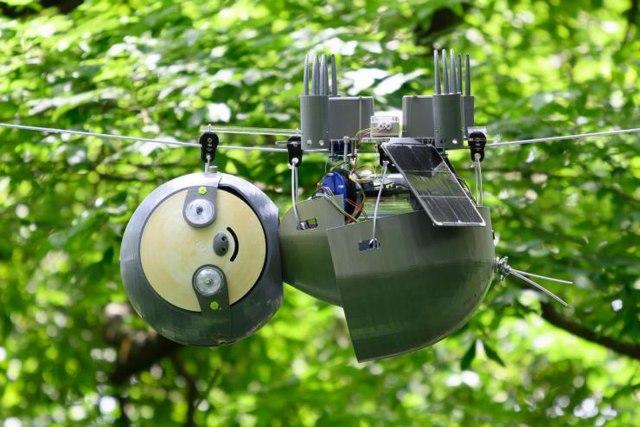 SlothBot watches over the Atlanta Botanical Garden