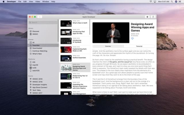 Apple Developer app for Mac