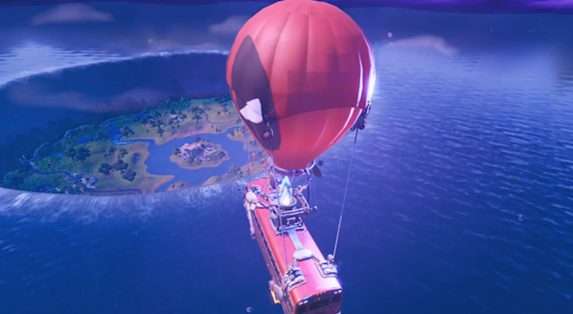 The flooded Fortnite map after the Device event