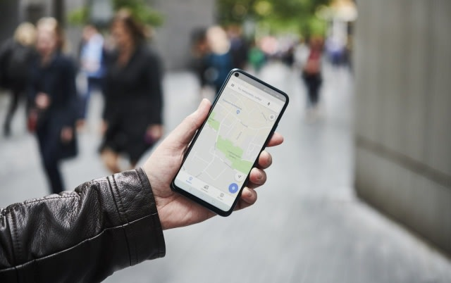LONDON, UNITED KINGDOM - JUNE 4: Detail of a man holding up an Honor 20 Pro smartphone with the Google Maps app visible on screen, on June 4, 2019. (Photo by Olly Curtis/Future Publishing via Getty Images)