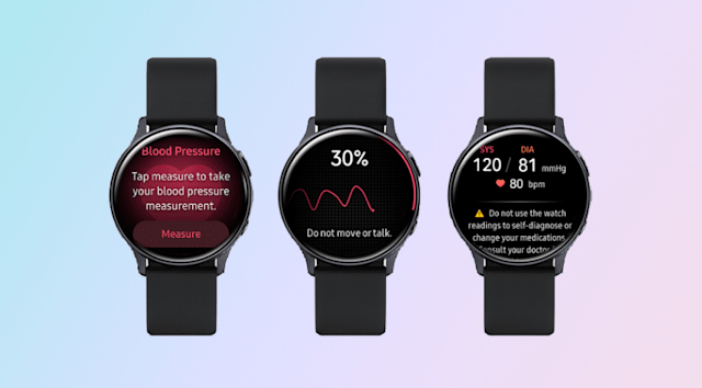 Samsung Galaxy Watch Active 2 Blood Pressure Monitoring